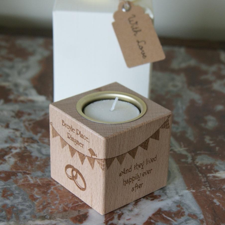 Tealight holder 0332 wooden