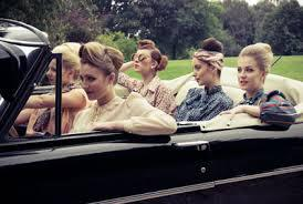 Vintage limo hen party