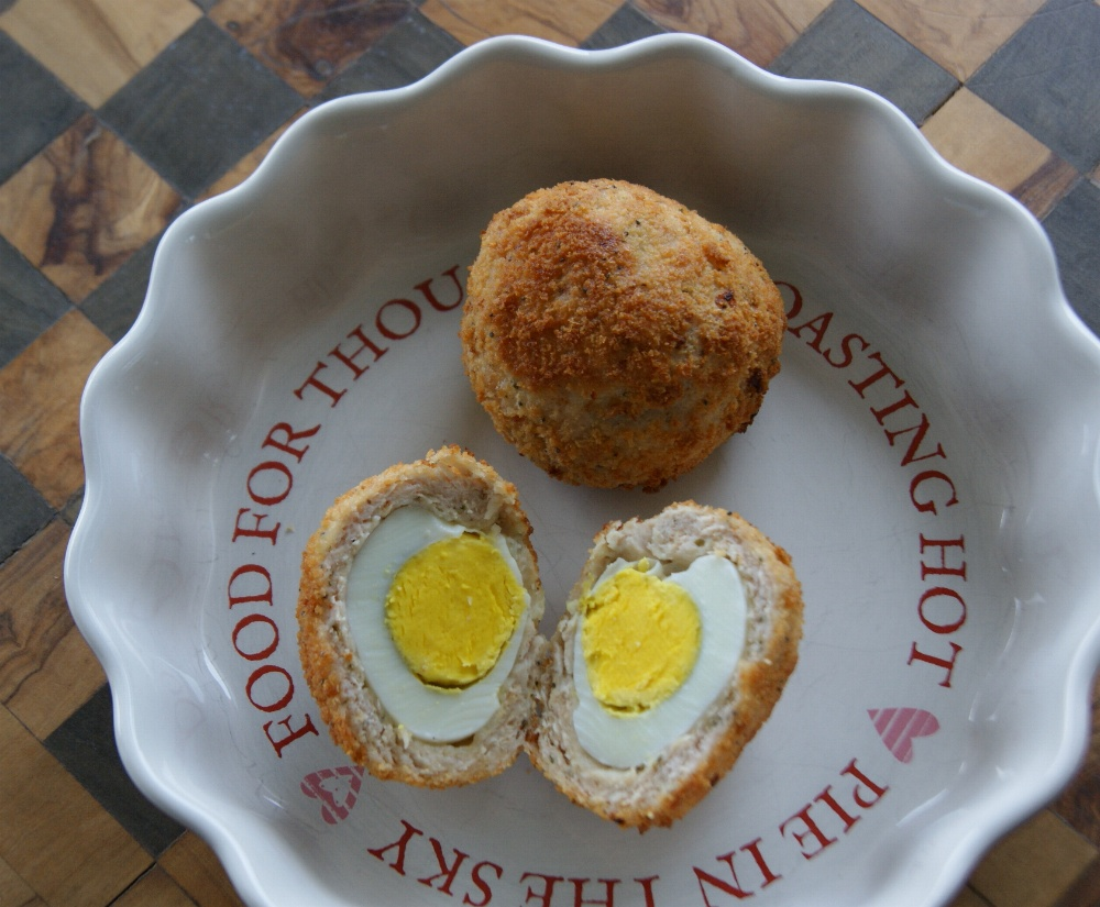Healthier Scotch Eggs – Made with Old English style Turkey mince