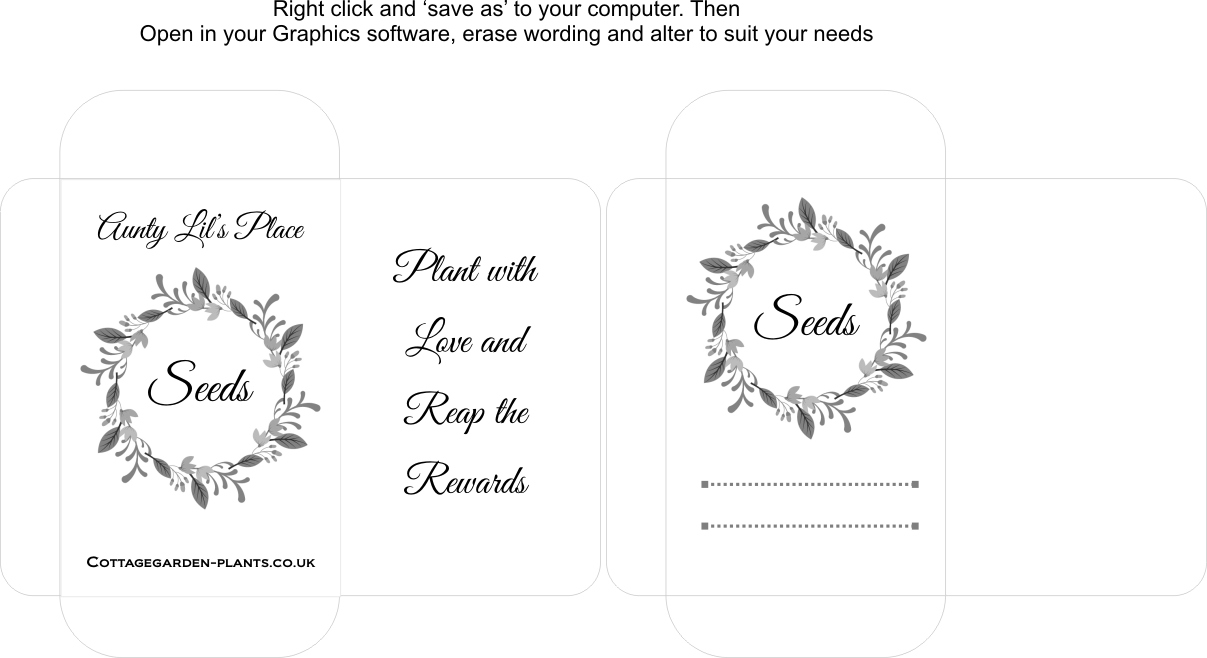 It's just a graphic of Tactueux Seed Packet Template Pdf