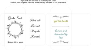 Seed Packet Template 2