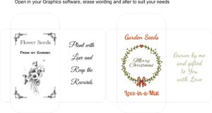 Seed Packet Template 3 Christmas design