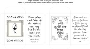Seed Packet Template 4