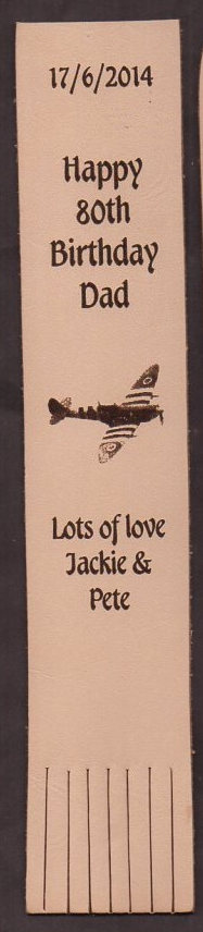 Birthday leather bookmarks