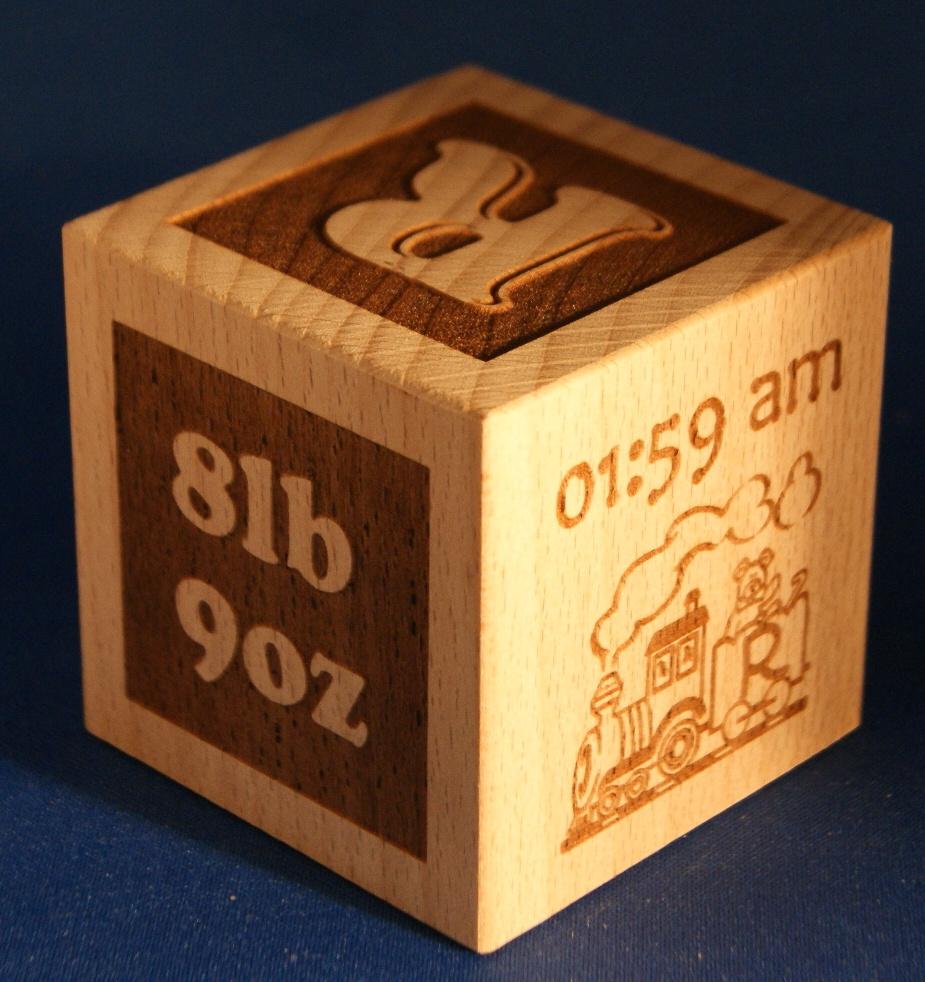 Personalised baby blocks