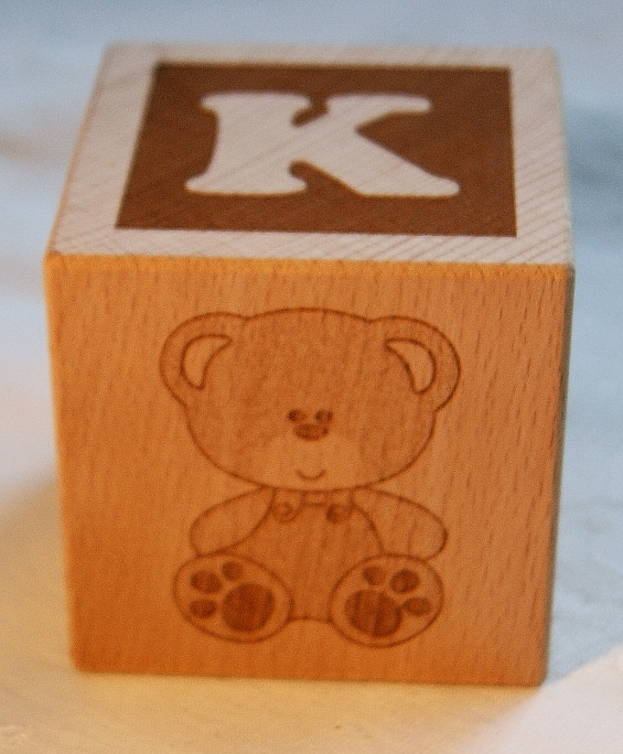 Personalised baby blocks