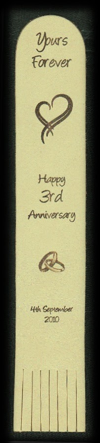 3rd anniversary leather bookmarks