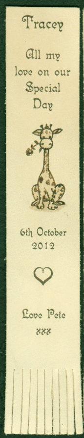 Giraffe bookmark 900