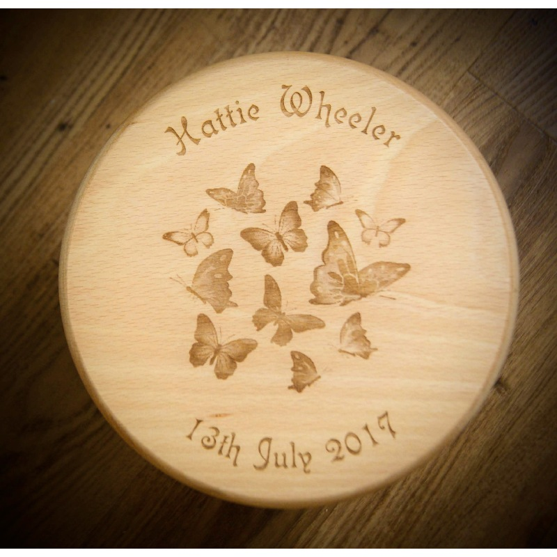 Wooden stool 02 personalised