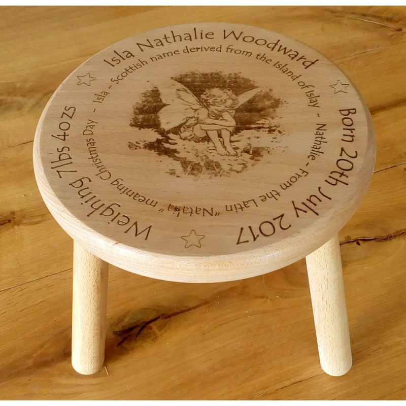 Wooden stool 05 personalised