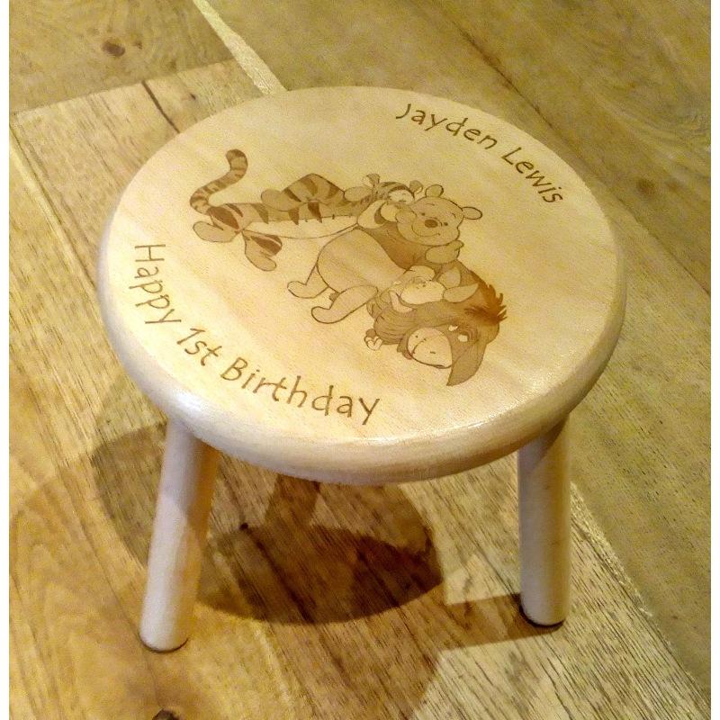 Wooden stool 07 personalised