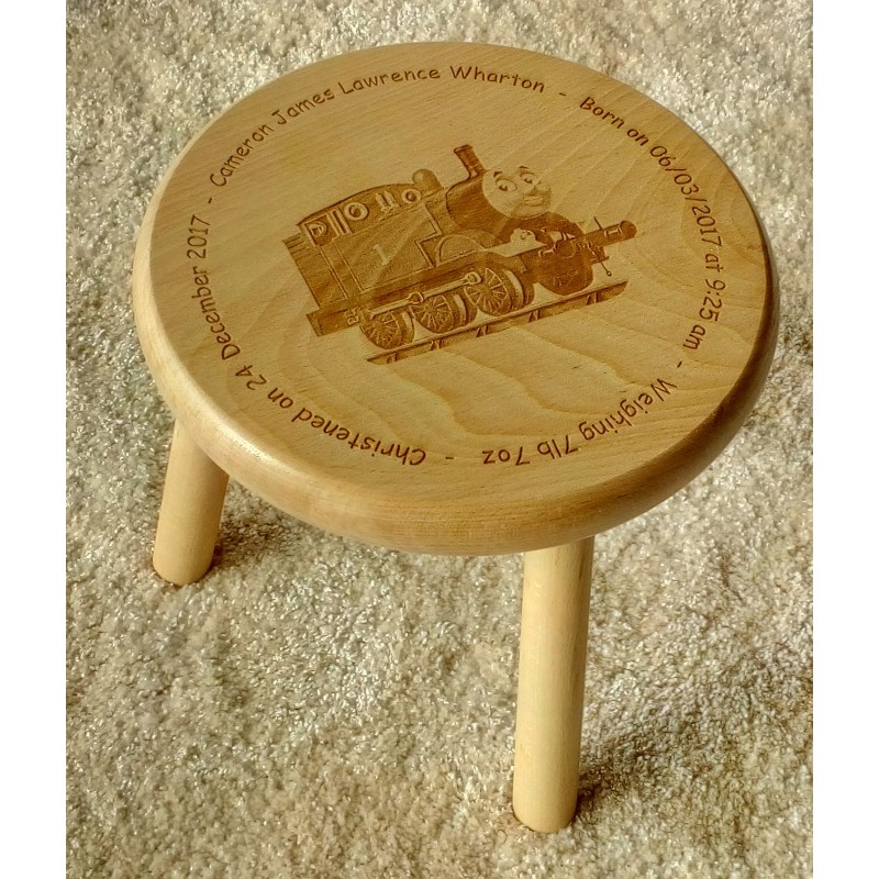 Wooden stool 08 personalised