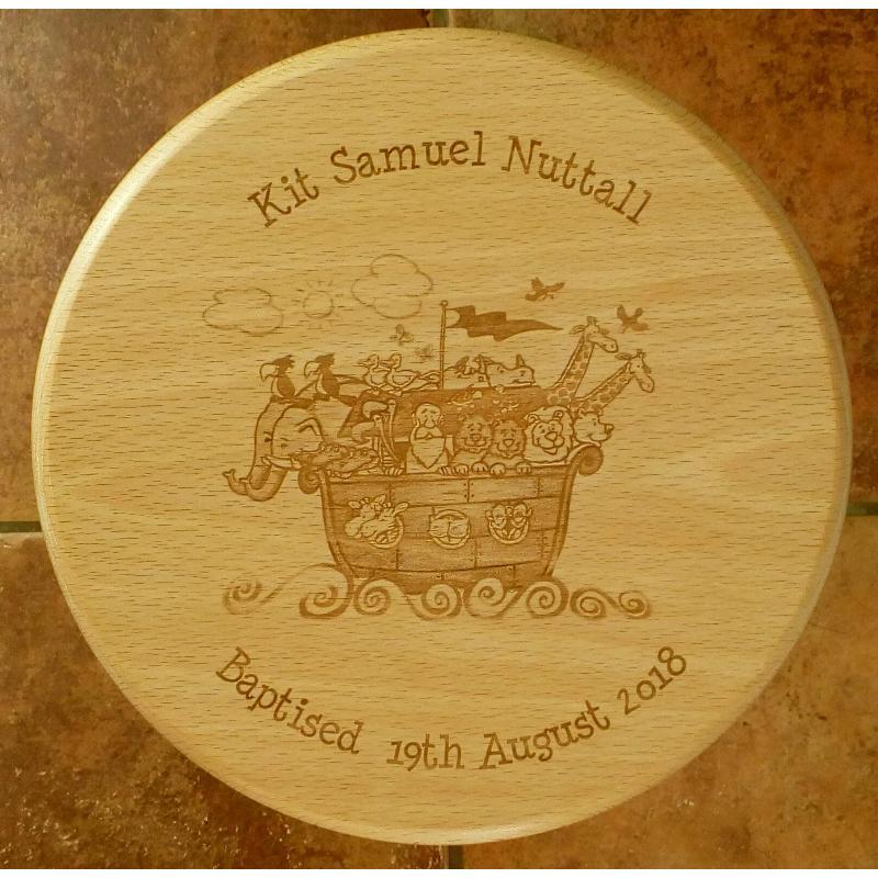 Wooden stool 20 personalised