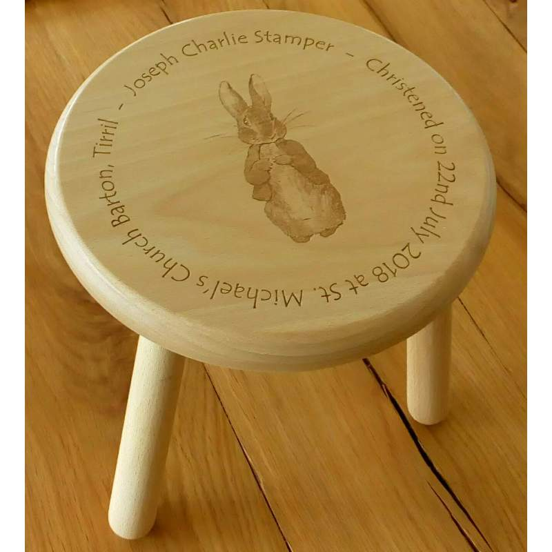 Wooden stool 21 personalised