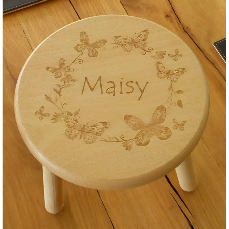 Wooden stool 26 personalised