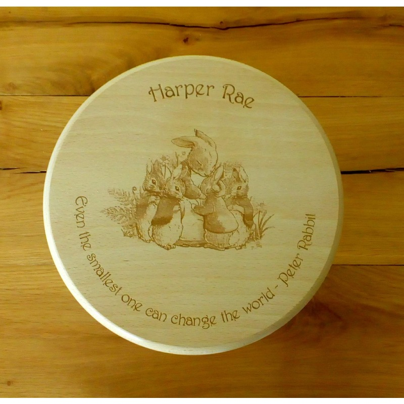 Wooden stool 27 personalised
