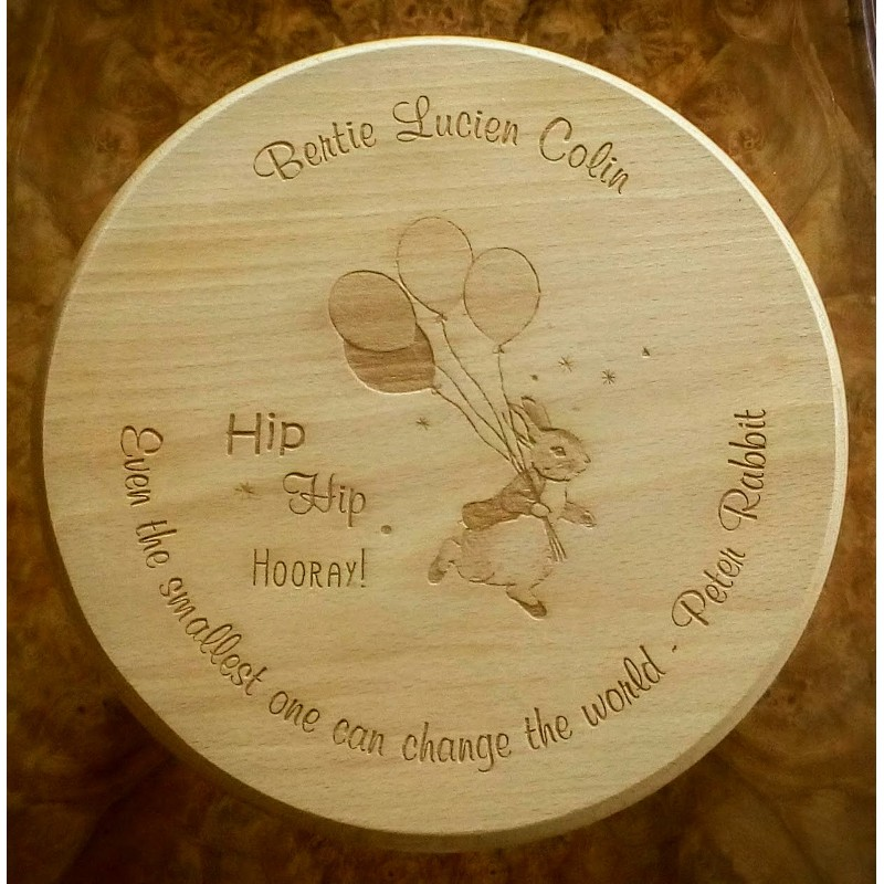 Wooden stool 31 personalised