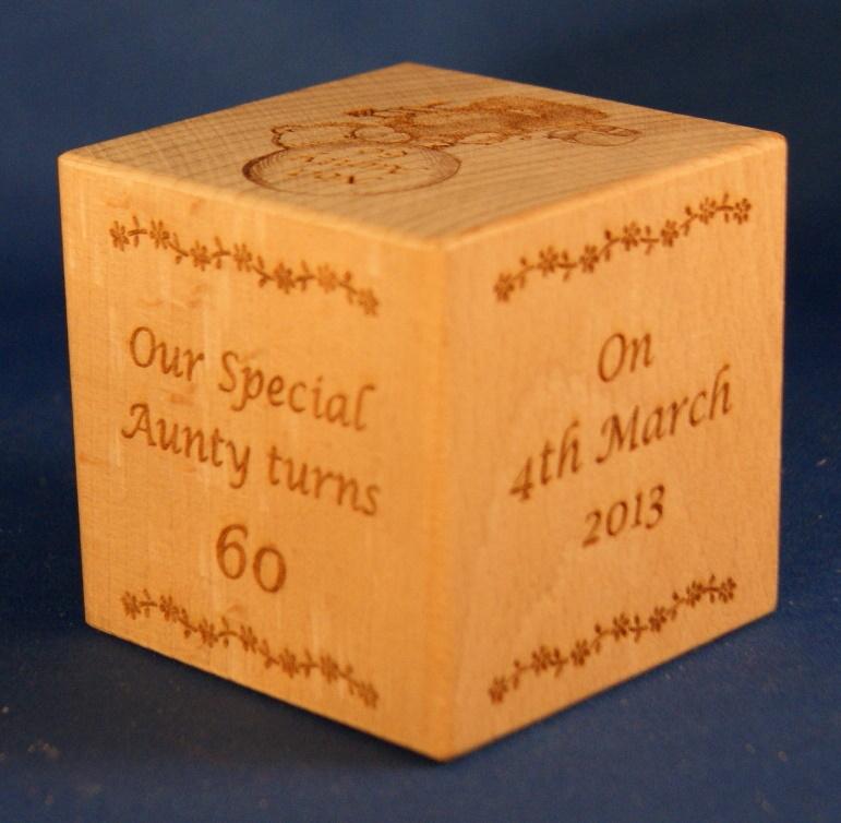 Birthday memory cubes
