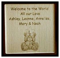 personalised baby blocks1083 engraved