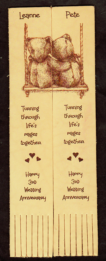 twin leather bookmarks 06 engraved