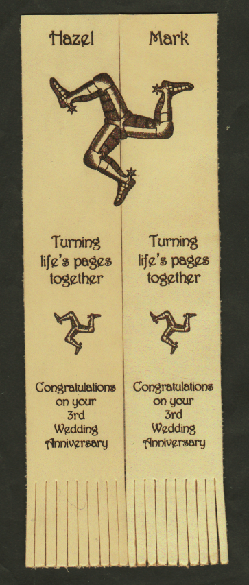 twin leather bookmarks 07 engraved