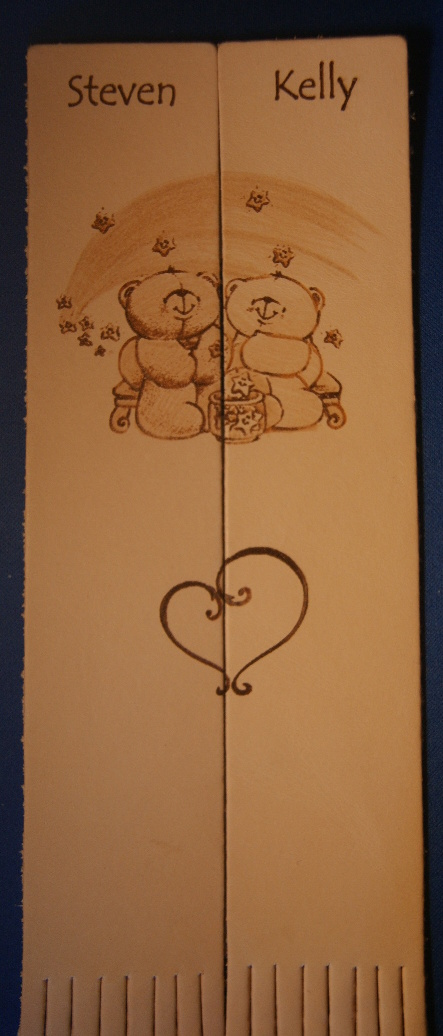 pair of leather bookmarks