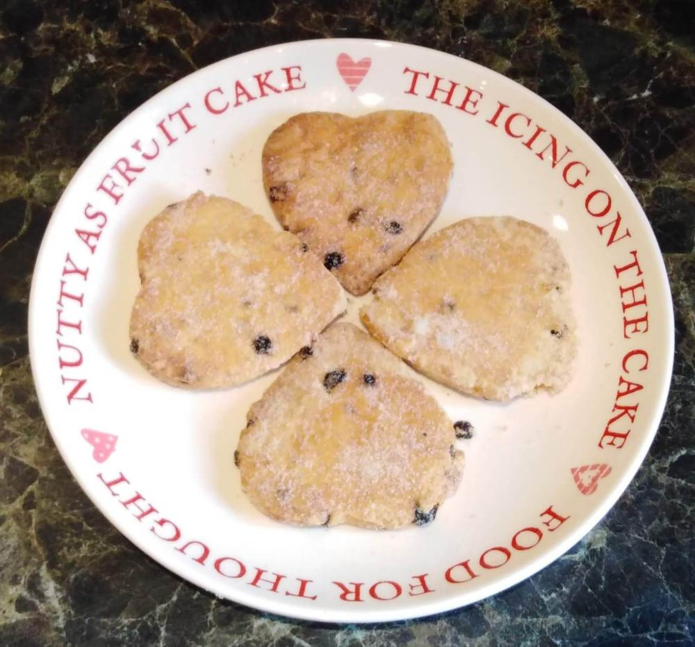 Gluten and dairy free biscuits heart shaped