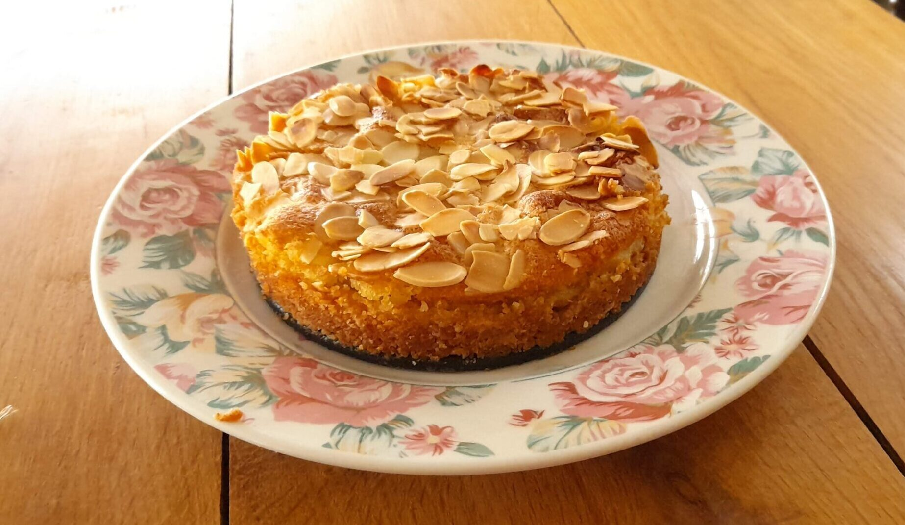 gluten and dairy free apple bakewell based on Mary Berry recipe
