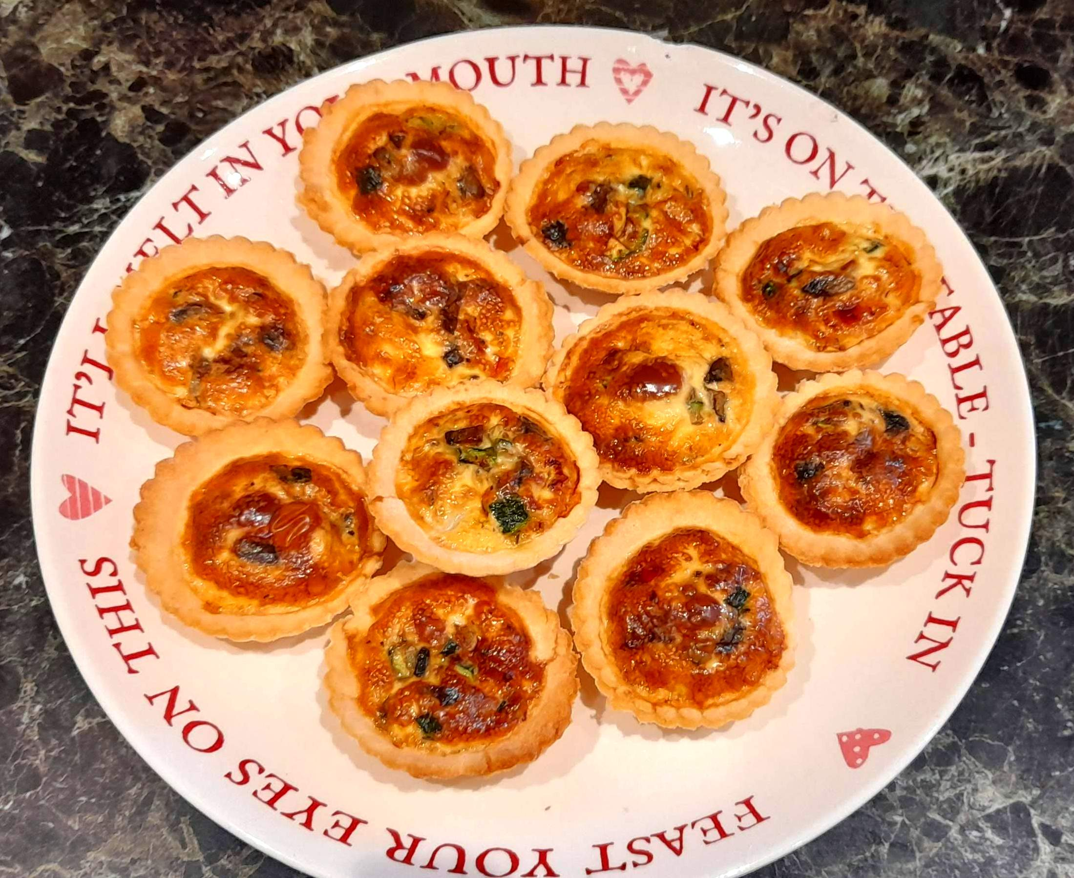 mini veg quiches gluten and dairy free